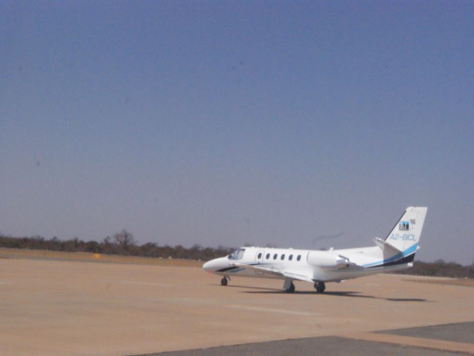 4.3Air Transport Selebi Phikwe has an airport with a 2.8- kilometre hard surfaced runway capable of taking aircraft up to BAe 146 and equivalent. It i