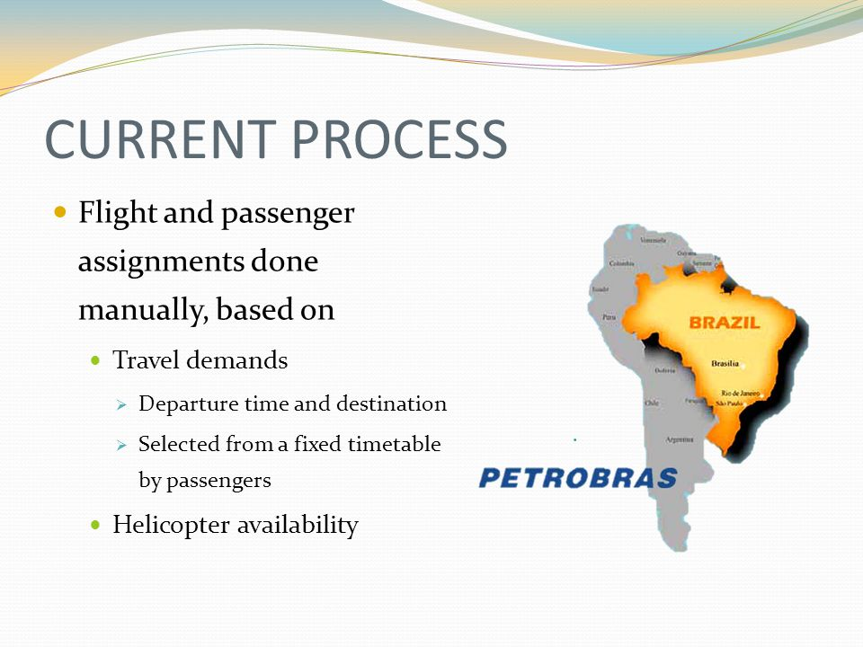 PROBLEM DEFINITION Complexities Limited number of available helicopters Strict operational rules 8 types of helicopter with different Operational characteristics Capacity Cost