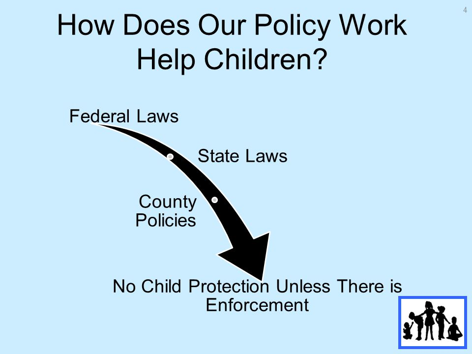 How Does Our Policy Work Help Children.