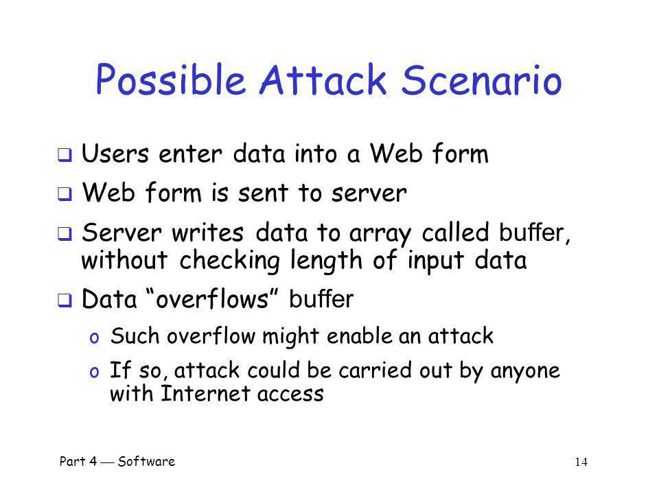 Part 4 Software 13 Buffer Overflow