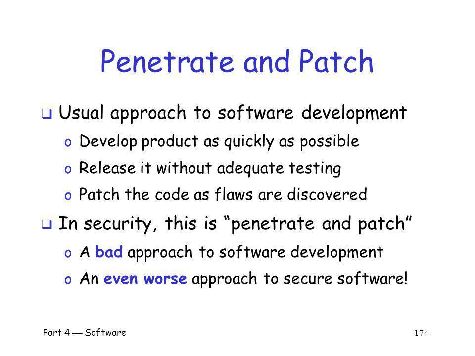 Part 4 Software 173 Secure Software Development