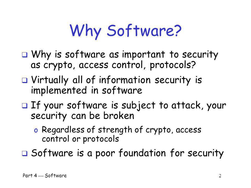 Part 4 Software 1 Part IV: Software