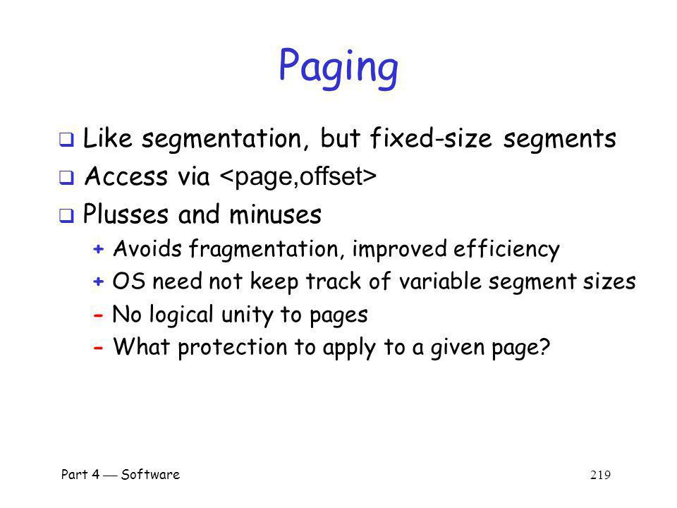 Part 4 Software 218 Segmentation Disadvantages How to reference .