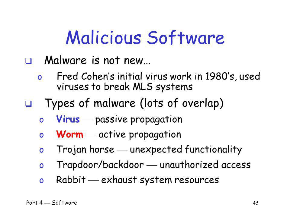 Part 4 Software 44 Malware