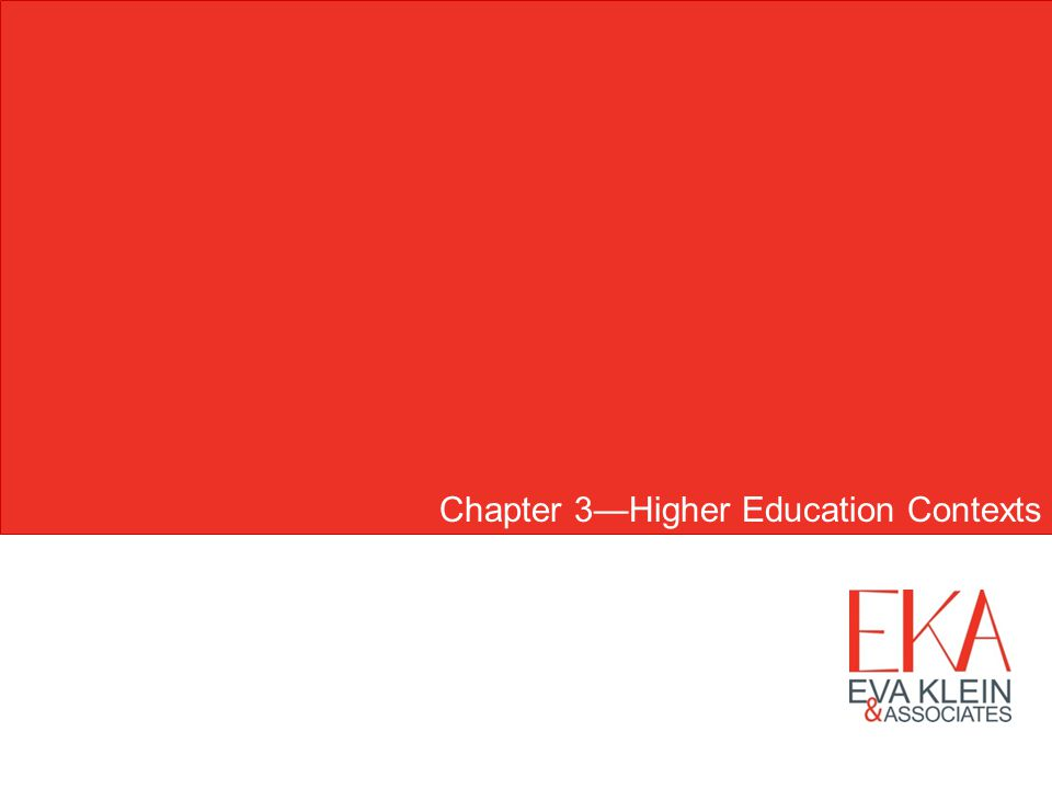 Chapter 3Higher Education Contexts