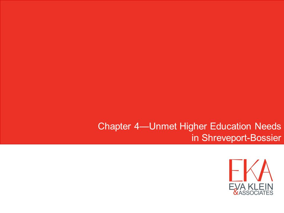 Chapter 4Unmet Higher Education Needs in Shreveport-Bossier