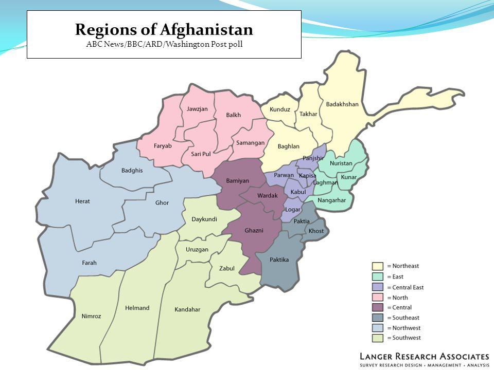 Regions of Afghanistan ABC News/BBC/ARD/Washington Post poll