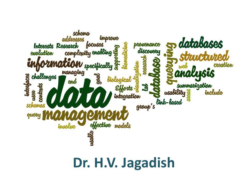 Dr. H.V. Jagadish
