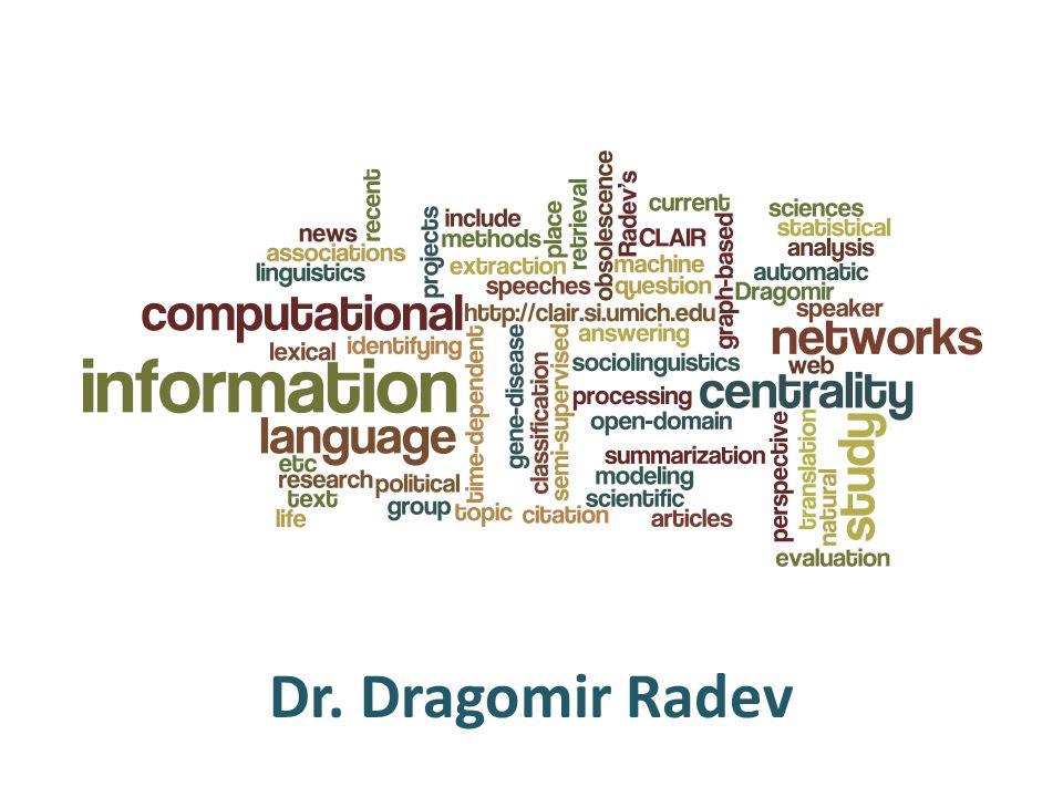 Dr. Dragomir Radev