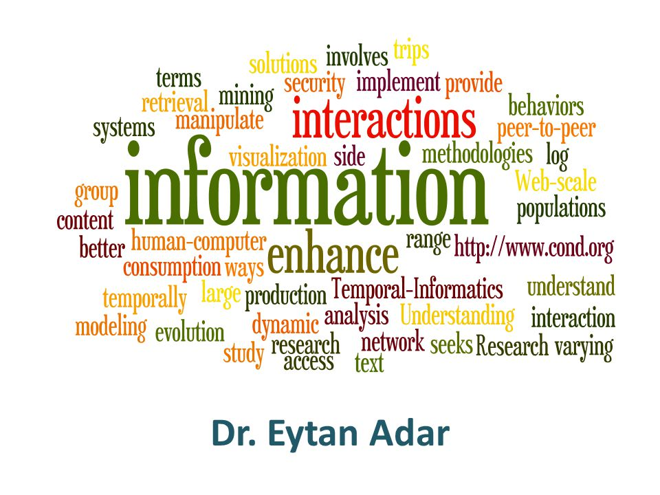 Dr. Eytan Adar