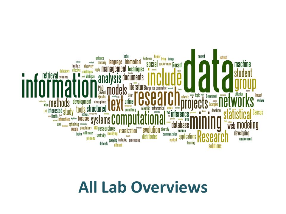 All Lab Overviews