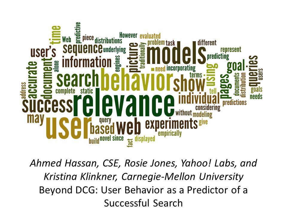 Ahmed Hassan, CSE, Rosie Jones, Yahoo.