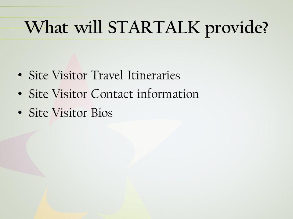 What will STARTALK provide.