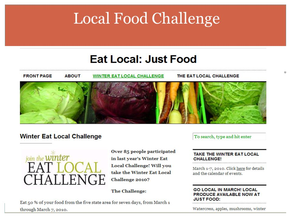 Local Food Challenge