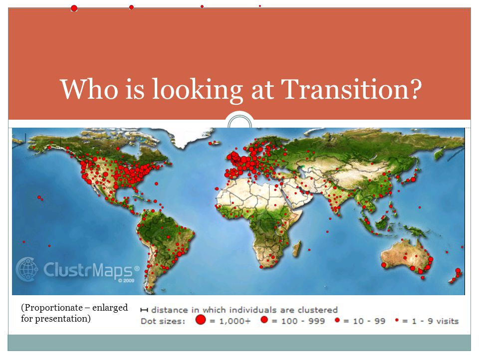Who is looking at Transition (Proportionate – enlarged for presentation)