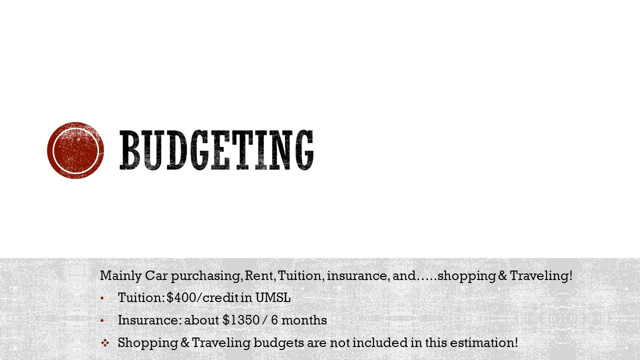 Mainly Car purchasing, Rent, Tuition, insurance, and…..shopping & Traveling.
