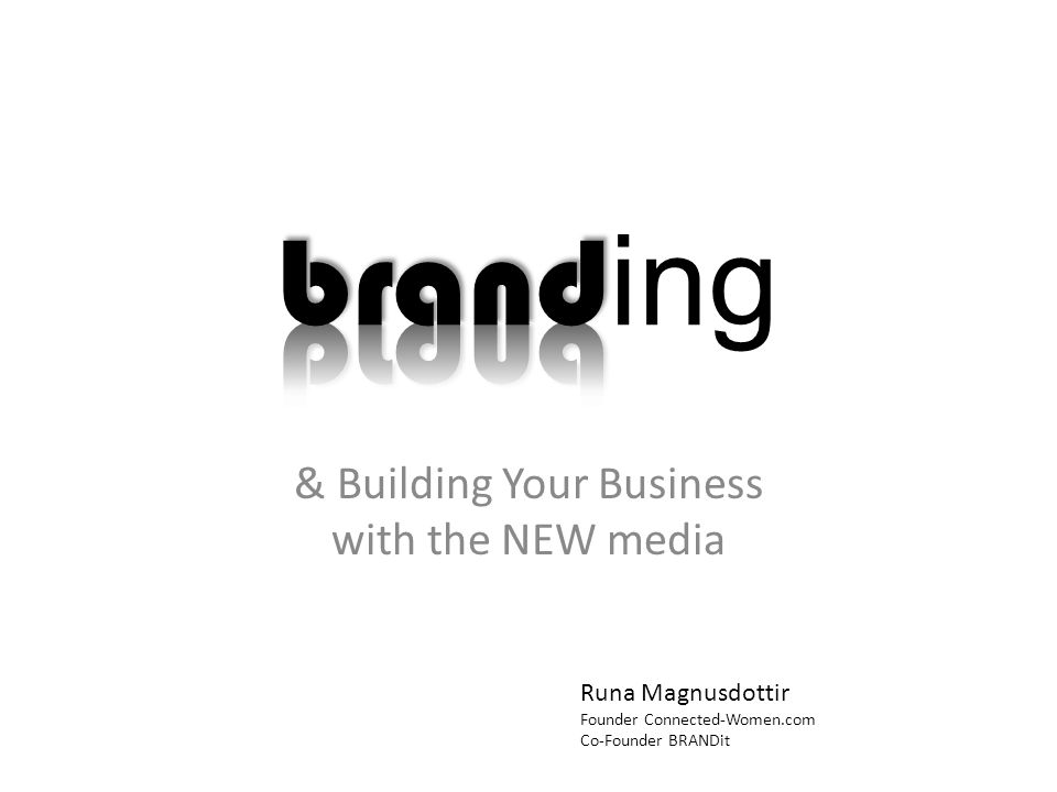 You are a BRAND Big companies understand the importance of brands.