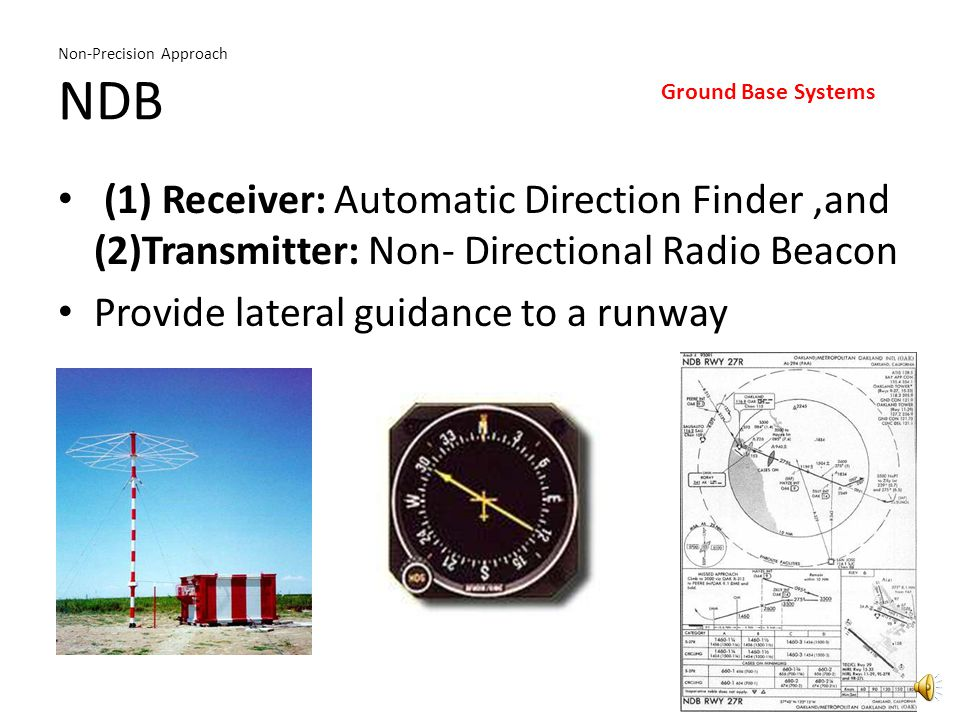 Non-Precision Approach Terminal VOR T - VOR Lateral Guidance to Runway Ground Base Systems