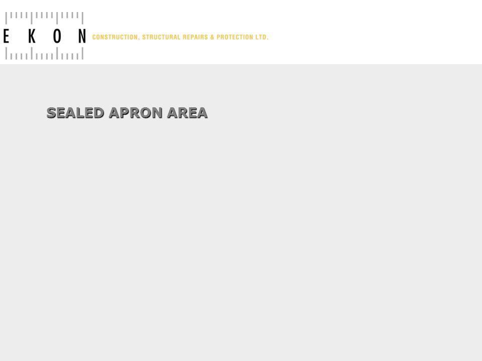 SEALED APRON AREA