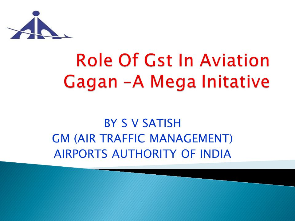 BY S V SATISH GM (AIR TRAFFIC MANAGEMENT) AIRPORTS AUTHORITY OF INDIA