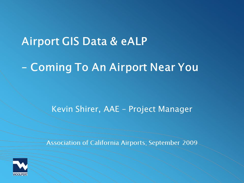 FAA Airports Surveying-GIS (AGIS) Database Purpose: To streamline the airport survey process and centralize airport data storage into one integrated web-based Geographic Information System https://airports-gis.faa.gov Supplementary Information –A Guide to Airport Surveys – FAA Whitepaper May 2009