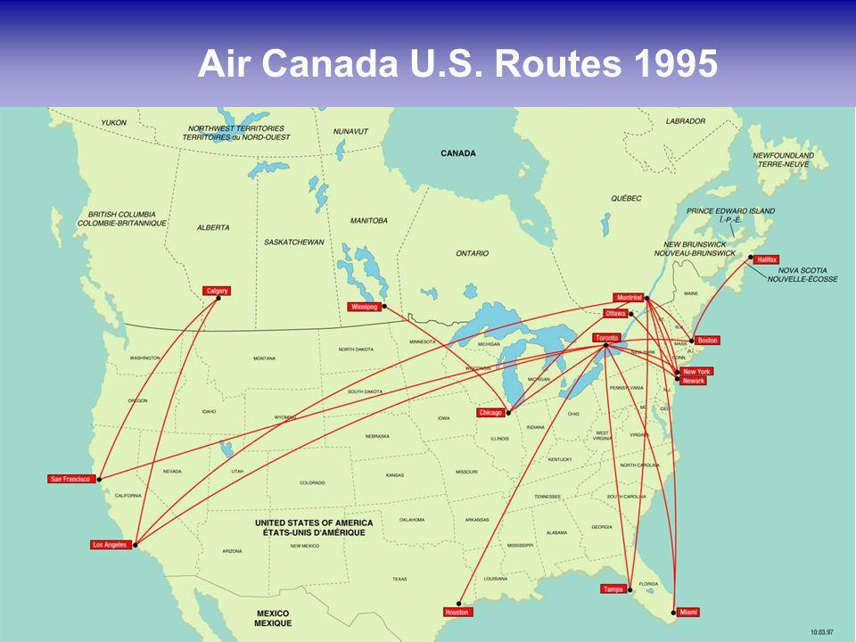 13 Air Canada U.S. Routes 1995