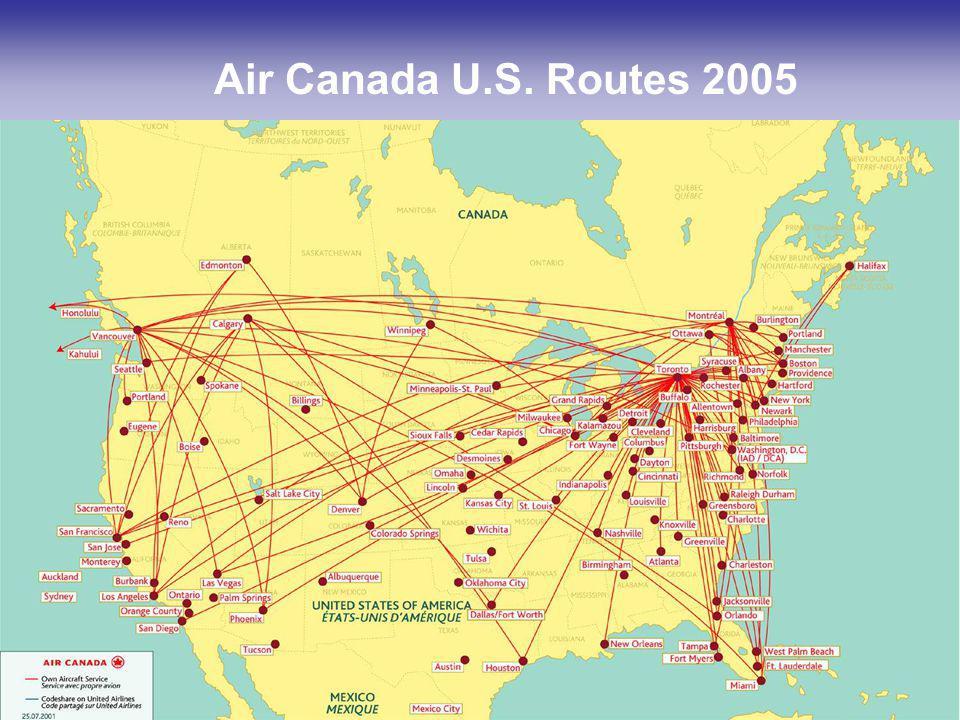 14 Air Canada U.S. Routes 2005
