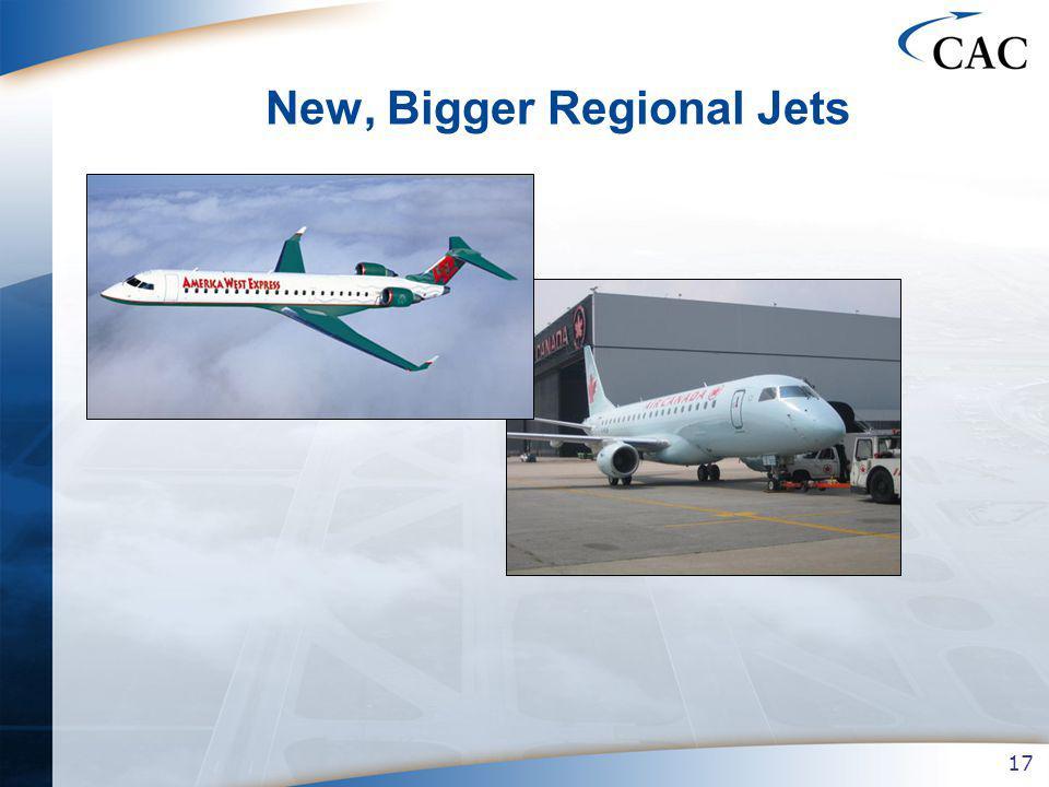 17 New, Bigger Regional Jets