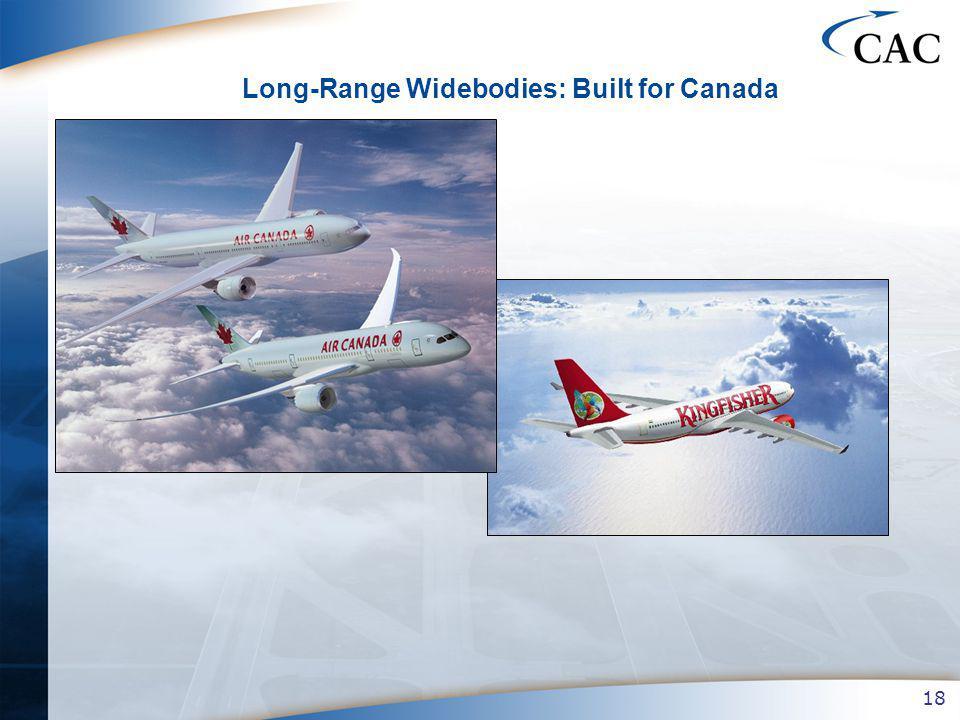 18 Long-Range Widebodies: Built for Canada
