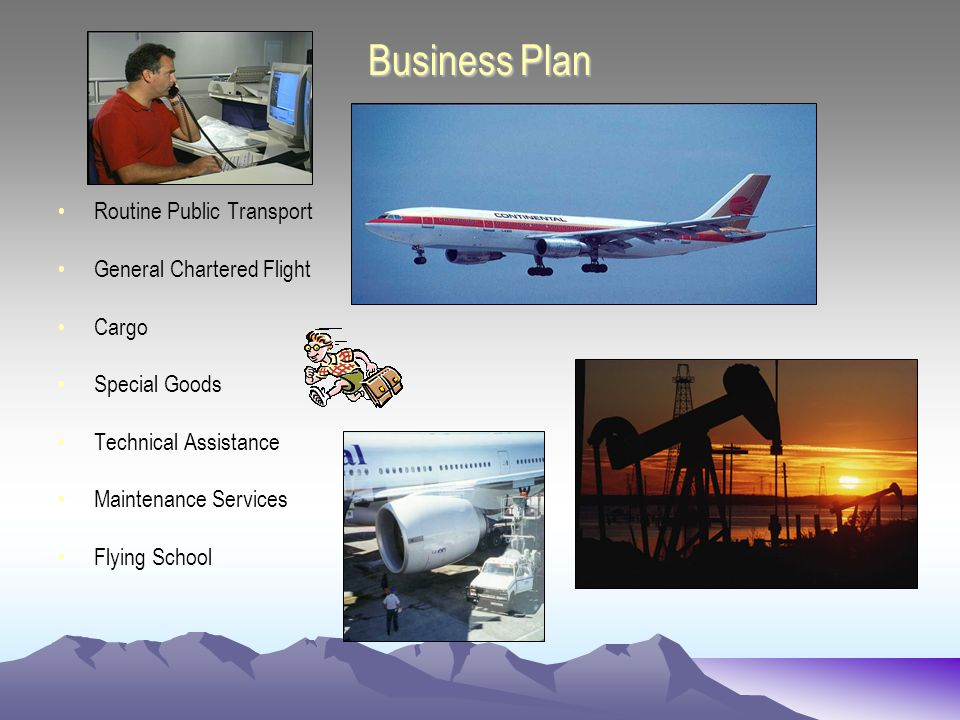 Business Plan Routine Public Transport General Chartered Flight Cargo Special Goods Technical Assistance Maintenance Services Flying School
