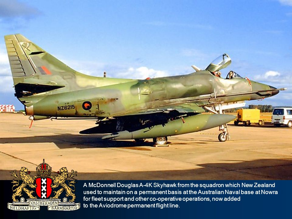 A McDonnell Douglas A-4K Skyhawk from the squadron which New Zealand used to maintain on a permanent basis at the Australian Naval base at Nowra for f