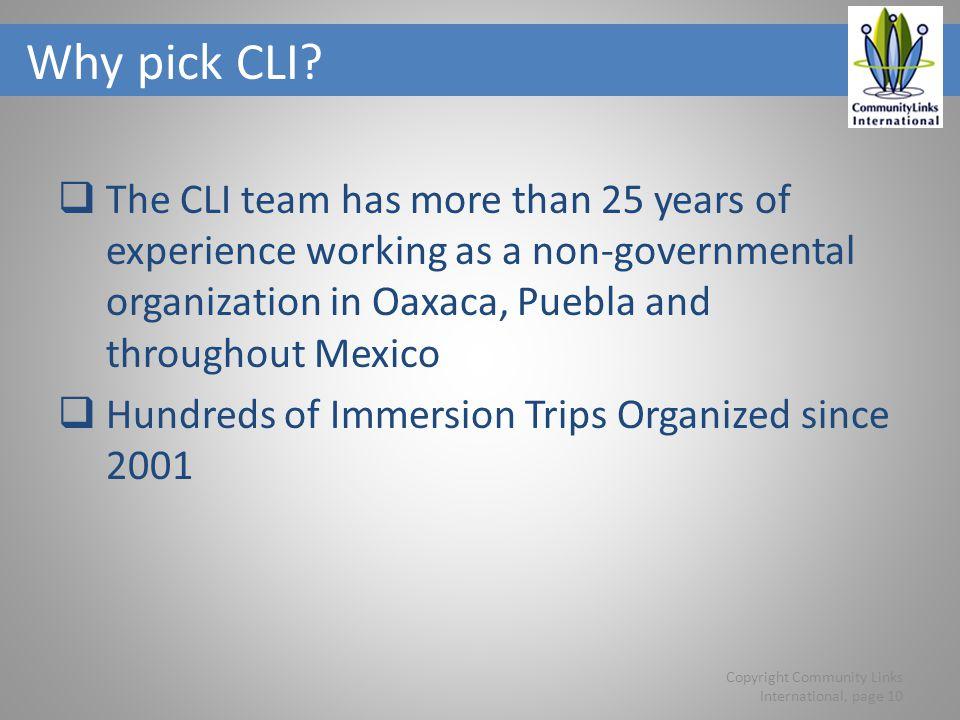 Why pick CLI.