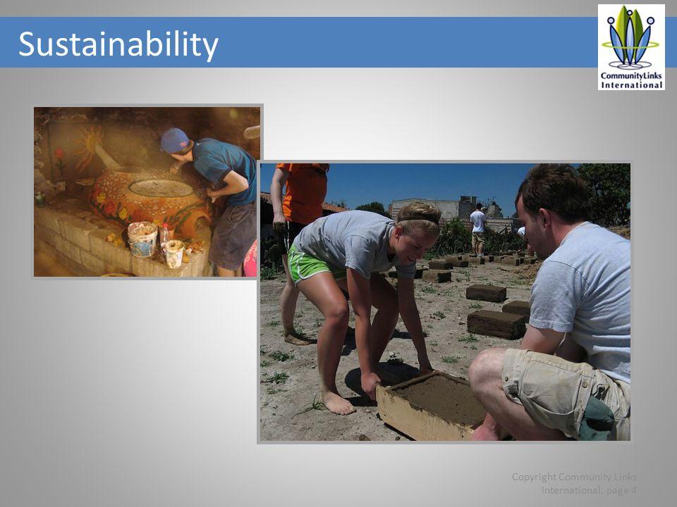Sustainability Copyright Community Links International, page 4