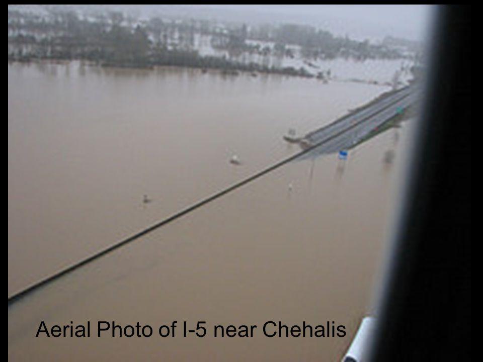 Aerial Photo of I-5 near Chehalis