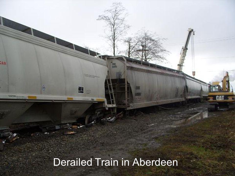 Derailed Train in Aberdeen