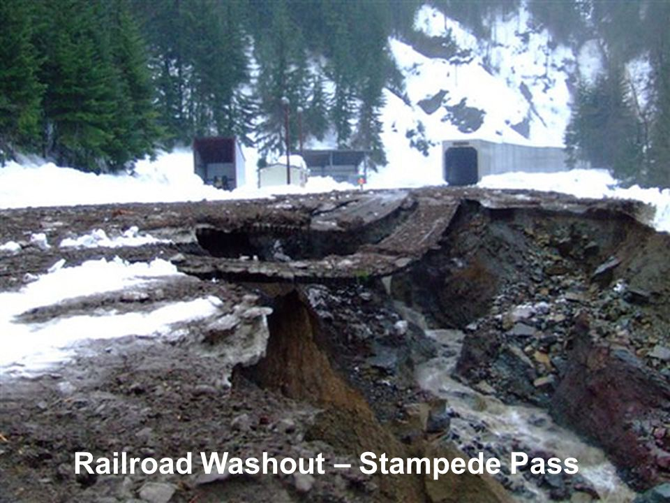 Railroad Washout – Stampede Pass