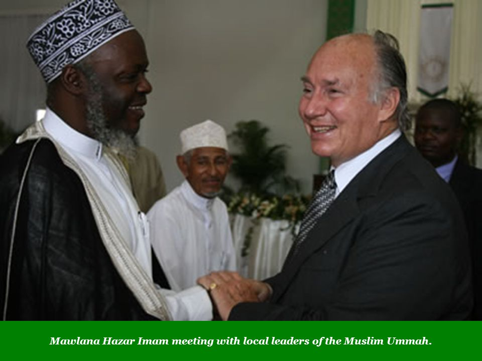 Mawlana Hazar Imam meeting with local leaders of the Muslim Ummah.
