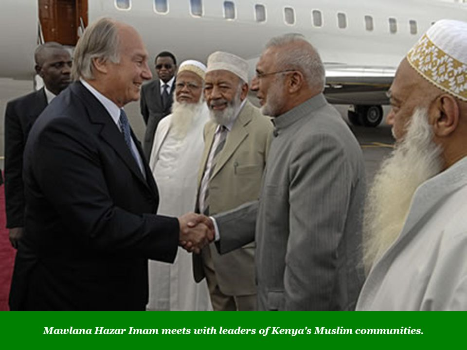 Mawlana Hazar Imam meets with leaders of Kenya's Muslim communities.