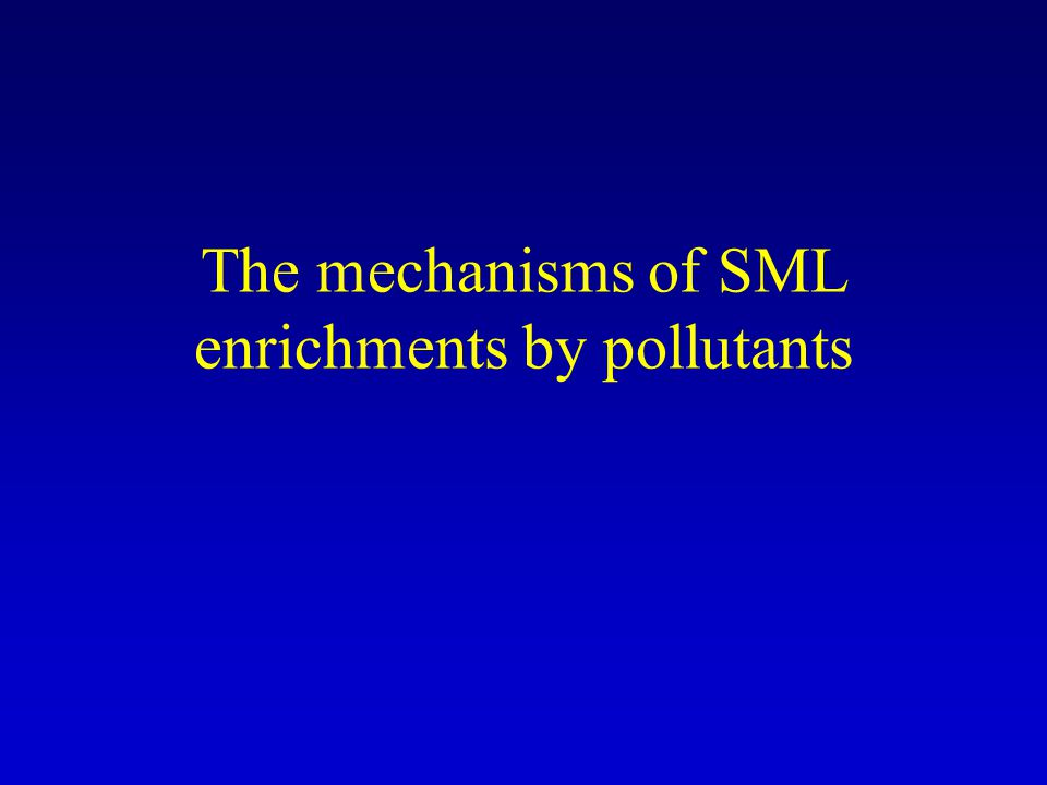 The mechanisms of SML enrichments by pollutants