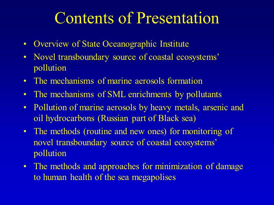 State Oceanographic Institute (SOI) Total staff number – 140 persons.