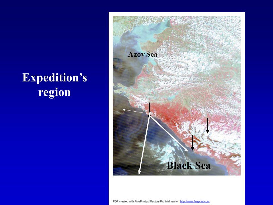 Expeditions region Black Sea Azov Sea