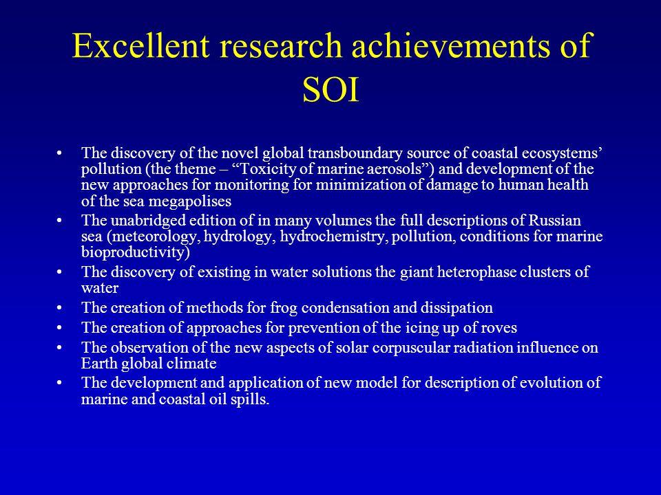 Structure of SOI Director Deputy Director Deputy Director Lab of marine estuary Depart.