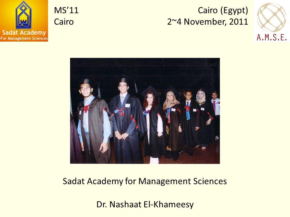Sadat Academy for Management Sciences Dr.
