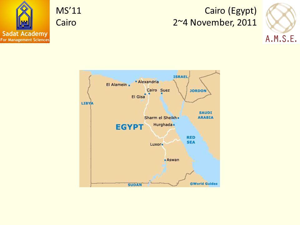 Cairo (Egypt) 2~4 November, 2011 MS11 Cairo