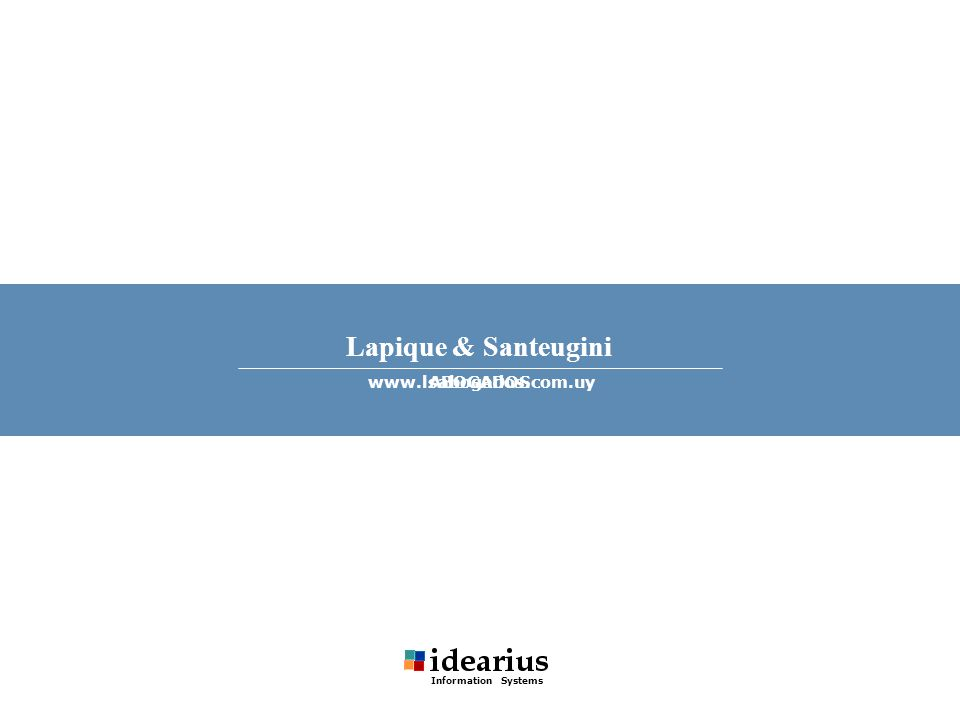 Lapique & Santeugini ABOGADOSwww.lsabogados.com.uy Information Systems