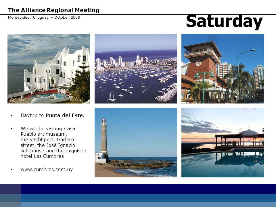 Saturday Daytrip to Punta del Este.
