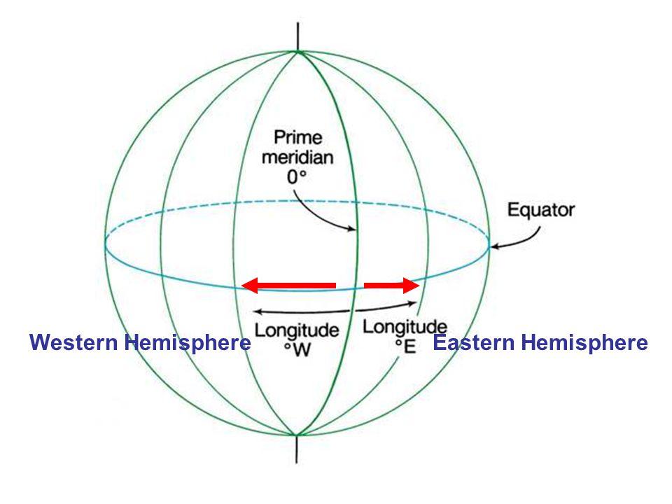 Western HemisphereEastern Hemisphere