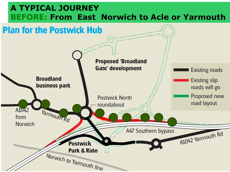 A TYPICAL JOURNEY BEFORE: From East Norwich to Acle or Yarmouth
