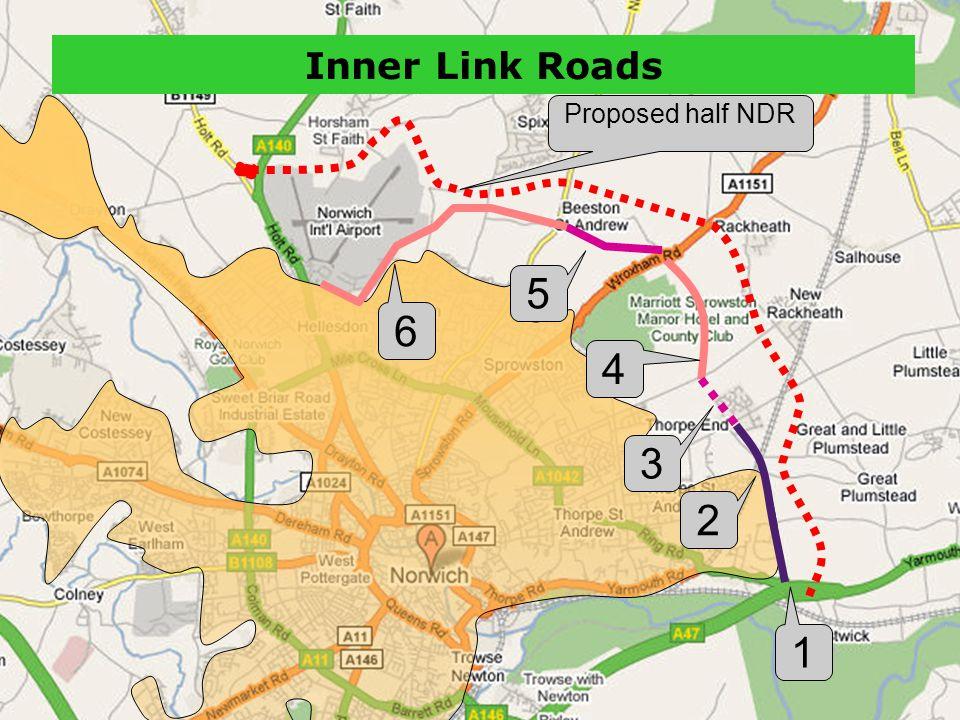 2 1 4 5 6 3 Inner Link Roads Proposed half NDR