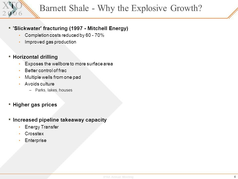 IPAA Annual Meeting 4 Barnett Shale - Why the Explosive Growth.